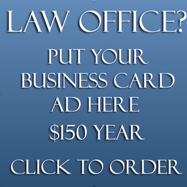 Banner ads include a free back link to your own web site. Free creative services included   Advertise your law practice at low cost Banner